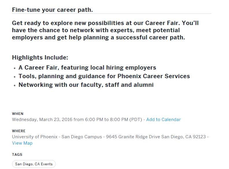 Cyber Center Of Excellence University Of Phoenix Career Fair